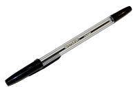 """Ручка шариковая BRAUBERG """"Line"""", ЧЕРНАЯ, корпус прозрачный, узел 1 мм, линия письма 0,5 мм, BP178"""