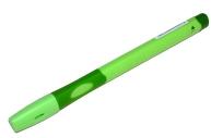 """Ручка шариковая Stabilo """"LeftRight"""" для левшей, синяя, 0, 8мм, грип, зеленый корпус"""