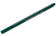 Ручка капиллярная BRAUBERG Aero, ТЕМНО-ЗЕЛЕНАЯ, трехгранная, металлический наконечник, 0,4 мм, 142251