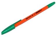 Ручка шариковая BRAUBERG X-333 Orange, ЗЕЛЕНАЯ, корпус оранжевый, узел 0, 7мм, линия 0, 35мм, 142412