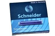 Картриджи чернильные SCHNEIDER (Германия), КОМПЛЕКТ 6 шт., картон. коробка, кобальтовые синие, 6603