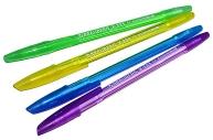 Ручка шариковая BRAUBERG X-333 NEON, СИНЯЯ, корпус тонированный ассорти, 0, 7мм, линия 0, 35мм, 142829