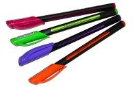Ручка шариковая масляная BRAUBERG Extra Glide Soft Color, СИНЯЯ, 0, 7мм, линия 0, 35мм, 142928
