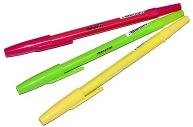"""Ручка шариковая ПИФАГОР """"Tropic"""", корпус ассорти, узел 1 мм, линия письма 0, 7 мм, синяя, 142965"""