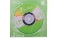 Диски DVD+R 4. 7Gb Smart Track 16x (бумажный конверт)