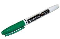 Маркер для доски BRAUBERG с клипом, эргономичный корпус, круглый наконечник 4 мм, зеленый, 150849