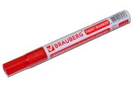 Маркер-краска лаковый 2-4мм, КРАСНЫЙ, нитро-основа, алюминиевый корпус, BRAUBERG, 150874