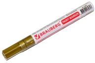 Маркер-краска лаковый 2-4мм, ЗОЛОТОЙ, нитро-основа, алюминиевый корпус, BRAUBERG, 150876