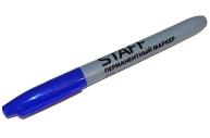 Маркер перманентный (нестираемый) STAFF, эргономичный корпус, круглый након. 2мм, синий, 151234