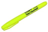 Текстмаркер STAFF, ЛИМОННЫЙ, эргономичный корпус, скошенный наконечник 1-3мм, 151238