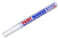 Маркер-краска лаковый (paint marker) 2 мм, БЕЛЫЙ, НИТРО-ОСНОВА, алюминиевый корпус, BRAUBERG PROFESSIONAL PLUS, 151438