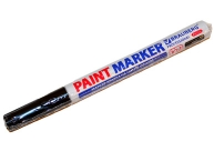 Маркер-краска ЧЕРНЫЙ, лаковый (paint marker) 2 мм, НИТРО-ОСНОВА, алюминиевый корпус, BRAUBERG PROFES