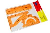 Набор геометрический 3пр гибкий цветн линейка+треуг+транспортир е/п MIRACULOUS МС-3517