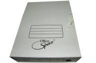 Короб архивный 75 мм гофро на завязках белый, до 700л. OfficeSpace,