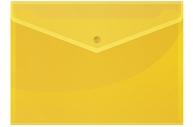 Папка-конверт на кнопке OfficeSpace А4, 150мкм, желтая