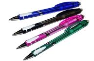 Ручка шариковая ПИШИ-СТИРАЙ, 0. 8 мм, автоматическая, стержень синий, корпус тонированный с резиновым