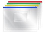 Папка-конверт на молнии OfficeSpace, A5, 120мкм, прозрачная
