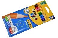 """Карандаши цветные 12 цветов, BIC """"Kids ECOlutions Evolution"""",  пластиковые, заточенные, европодвес, 8"""