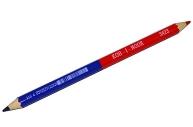 Карандаш двухцветный утолщённый KOH-I-NOOR, 1 шт., красно-синий, грифель 3, 8 мм, картонная упаковка,