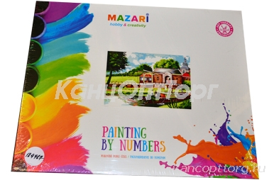"""Картины по номерам 40*50 """"Пейзажи. Люди на лодке"""" MAZARI M-6413"""