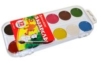 Краски акварельные BRAUBERG, 12цв, медовые, пластиковая коробка, без кисти,