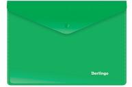 Папка-конверт на кнопке A5+, 180мкм, зеленая Berlingo,