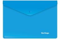 Папка-конверт на кнопке A5+, 180мкм, синяя Berlingo,