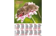 2020 Календарь А2 Мышки на гербере №3