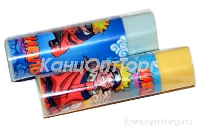 Ластик, цилиндр 6-гранный, синтетический каучук, картонный держатель, 55*15*15мм