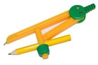 Циркуль ПИФАГОР пластиковый с карандашом, 110мм,  в чехле, 210236