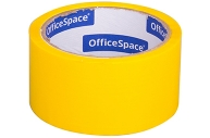 Скотч желтый 48мм*40м, 45мкм, OfficeSpace, ШК