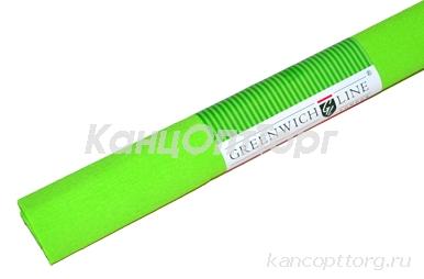 Бумага цветная креповая зеленое яблоко 50*250см с32г/м2, в рулоне, Greenwich Line