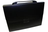 Портфель пласт. BRAUBERG Energy А4 (330х256х32мм), 6 отделений, индекс. ярлыки, черный, 221204