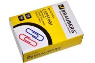 Скрепки BRAUBERG 50 мм цветные, 50 шт., в карт. коробке, 221533