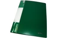 "Папка 10 вклад. BRAUBERG ""Стандарт"" зеленая, 0,5 мм"