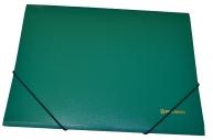 Папка на резинках BRAUBERG Стандарт, зеленая, до 300 листов, 0,5 мм,