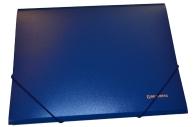 Папка на резинках BRAUBERG Стандарт, синяя, до 300 листов, 0,5 мм,