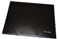 Папка на резинках BRAUBERG Стандарт, черная, до 300 листов, 0,5 мм,