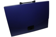 Портфель пласт. BRAUBERG Energy, А4 225*320 мм, без отделений, синий