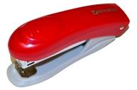 """Степлер BRAUBERG """"Einkommen"""", №10, до 12 л, пласт корпус, метал. мех, встроен антистеп, красный, 222532"""