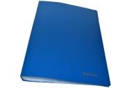 Папка 40 вклад. BRAUBERG Бюджет, синяя, 0, 6мм, 222634