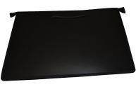 Папка А3 для чертежей и рисунков 460х343 с ручками, пласт, черная