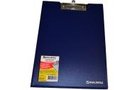 Планшет А4 с крышкой плотн., синий А4 до 80л, 1, 5мм, BRAUBERG Contract 223488