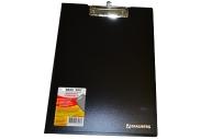 Папка-планшет плотн., с верх. прижимом и крышкой А4 черный до 80л, 1, 5мм, BRAUBERG Contract