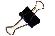 Зажимы для бумаг STAFF, эконом, 25 мм, на 140л.,  черные, в карт. коробке
