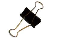 Зажимы для бумаг STAFF, эконом, 32мм, на 140л.,  черные, в карт. коробке
