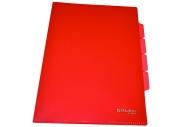 Папка-уголок 3 отделения, жесткая, BRAUBERG, красная, 0, 15мм, 224884