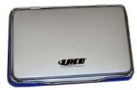 Штемпельная подушка LACO (ЛАКО, Германия) 110*70 мм, металлический корпус, краска синяя, ST2