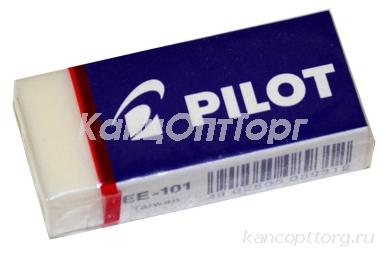 Ластик PILOT прямоугольная, 45х20х12 мм, белая, виниловая, картон. держ, EE-101