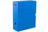 Короб архивный с клапаном 100мм, синий микрогофрокартон, до 900л. OfficeSpace,